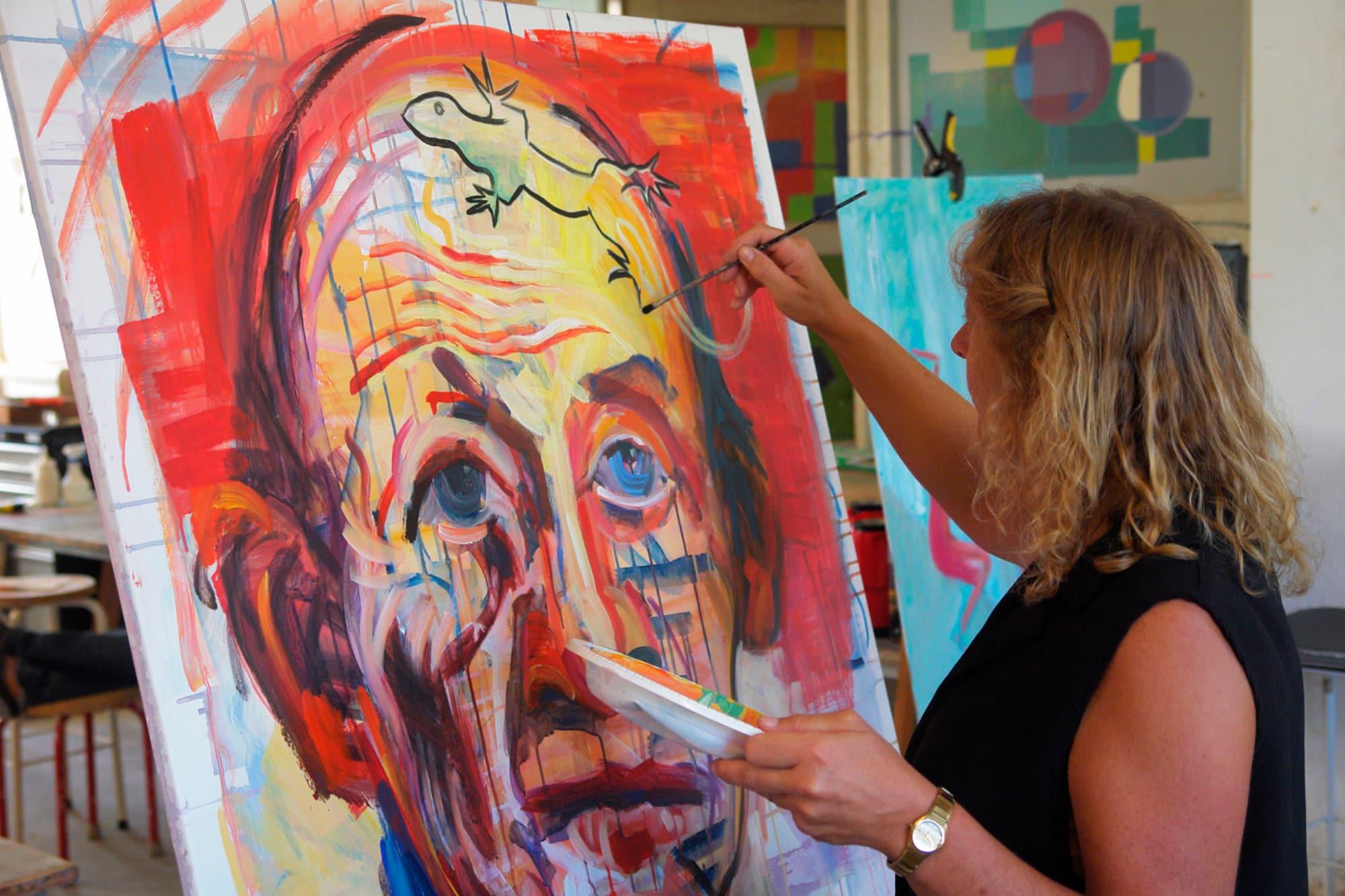Maleri - Farver og fantasi med Fadavi