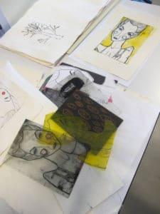 Fra skitse og tegning til grafisk tryk (1)