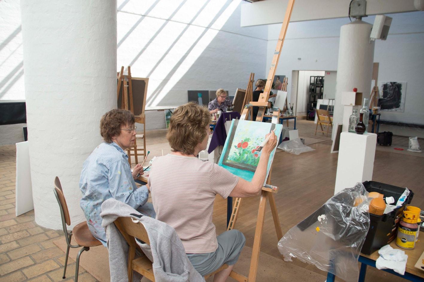 maler kursus - oliemaling og akryl
