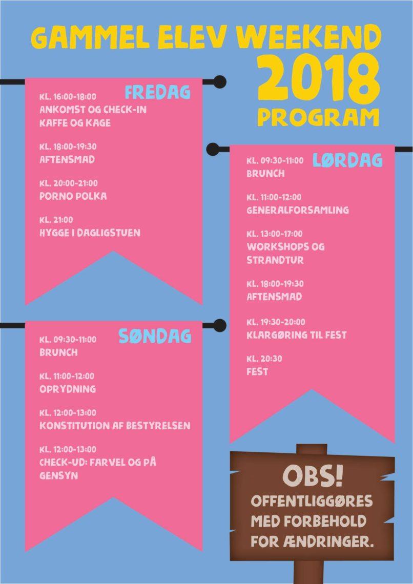 Program for gammel elevweekend