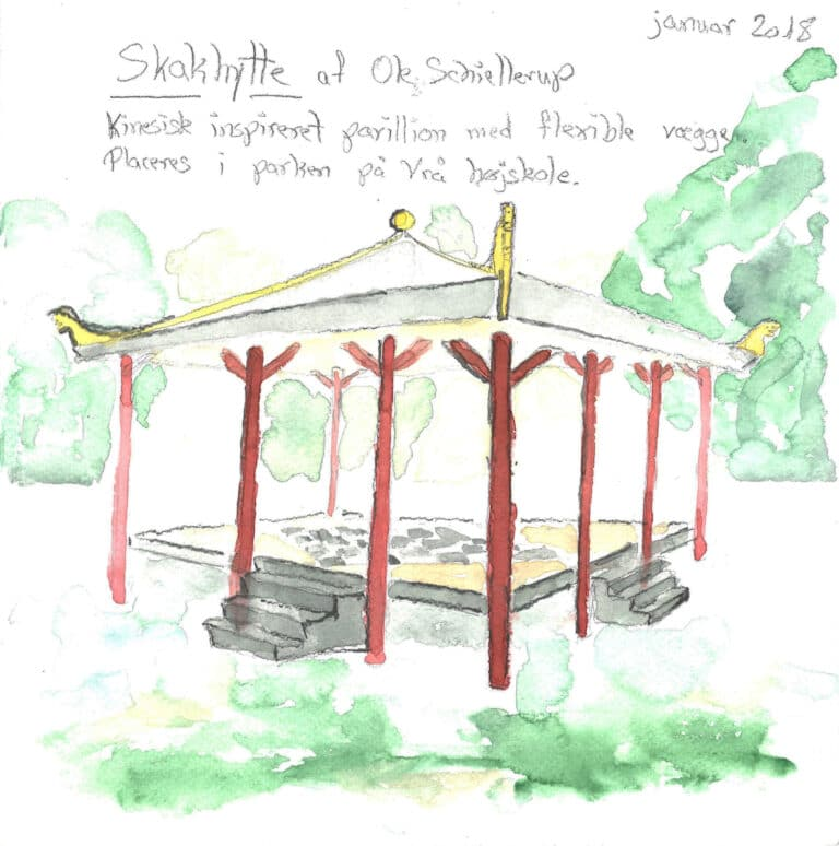 Build a pavillion inspired by fairy tale The Nightingale by Hans Christian Andersen