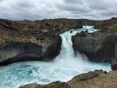 Rejsekursus Island - Vandfald