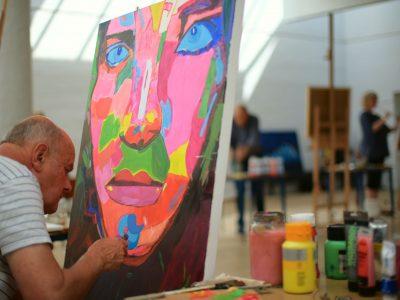 Oliemaling og akryl - maler kursus på Vrå Højskole