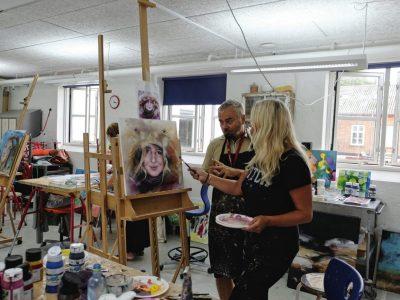 malerkursus - drama og stemning i maleri