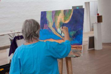 Maleri med Verner Brems